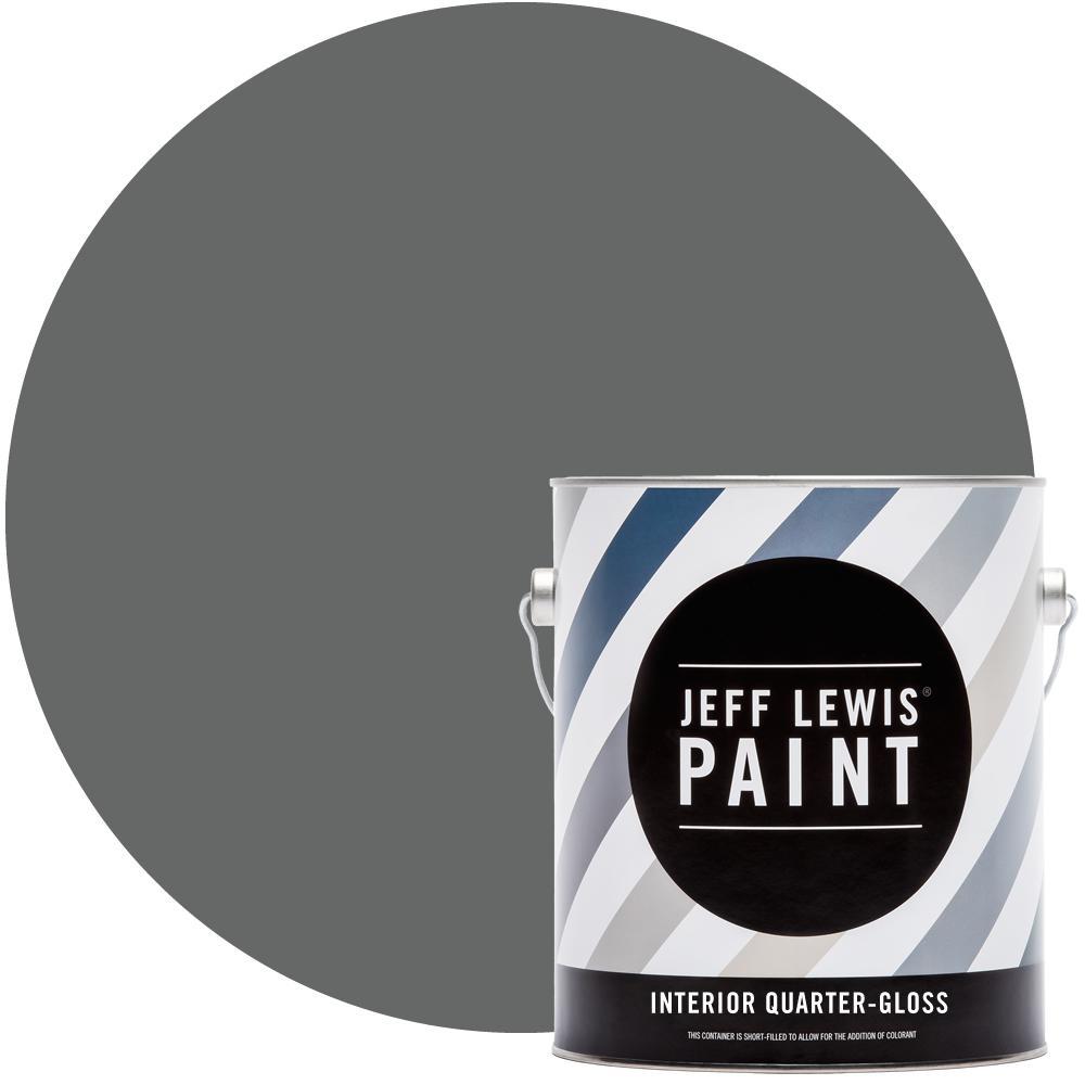 1 gal. #416 Carbon Quarter-Gloss Interior Paint