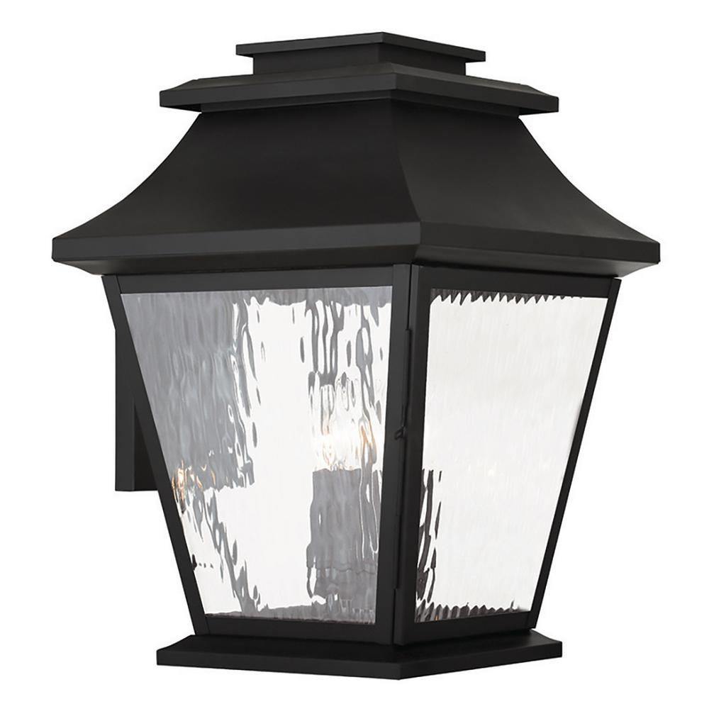 Hathaway 4-Light Black Outdoor Wall Mount Lantern