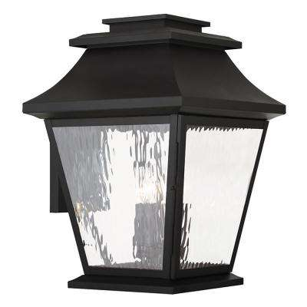 Hathaway 4-Light Black Outdoor Wall Mount Lantern