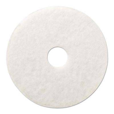 12 in. Dia Standard Polishing White Floor Pad (Case of 5)