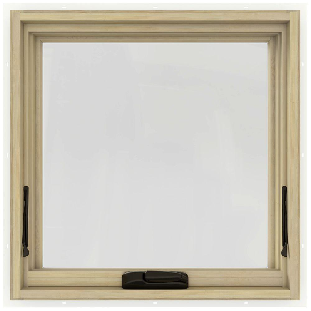 24 in. x 24 in. W-2500 Series White Painted Clad Wood