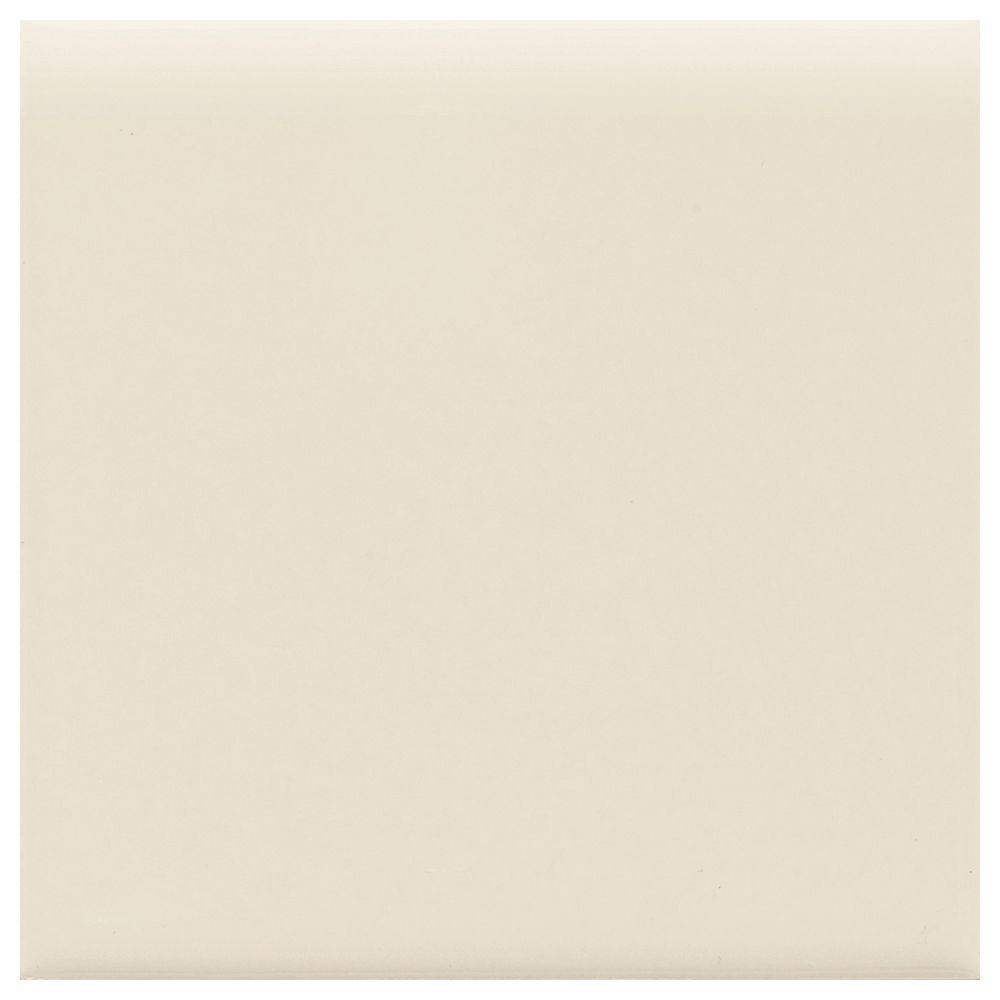4x4 tile trim tile the home depot matte almond 4 14 in x 4 14 in dailygadgetfo Choice Image