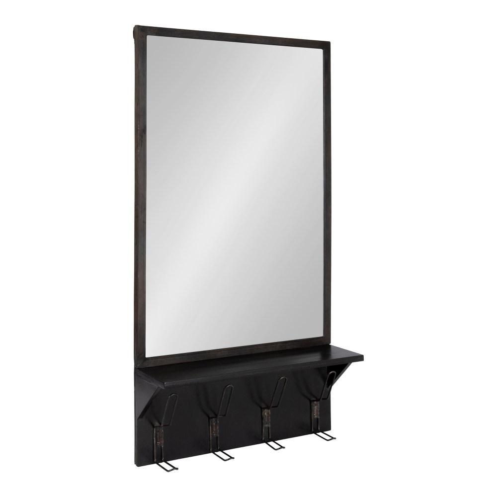 Kate and Laurel Coburn Rectangle Black Wall Mirror 213988