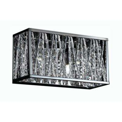 Lawrence 3-Light Chrome Halogen Bath Vanity Light