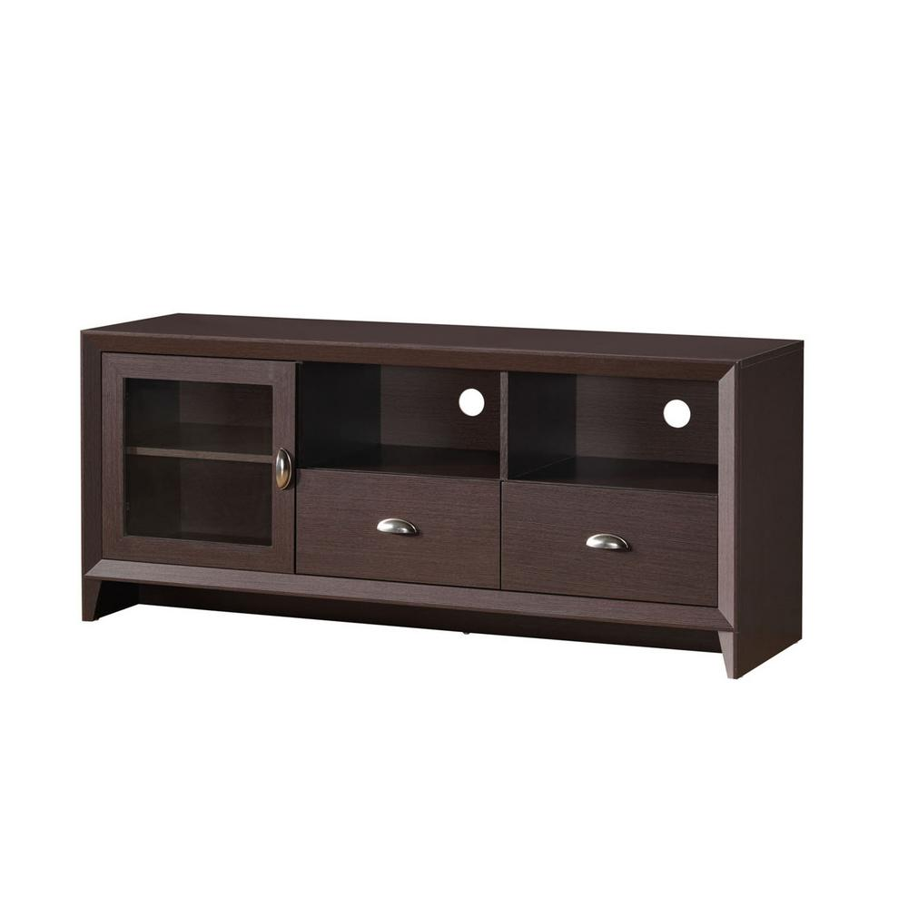 Techni Mobili Wenge Modern TV Stand With Storage For TVs Up To 60 In.