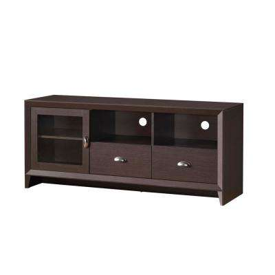 Wenge Modern TV Stand with Storage for TVs Up To 60 in.