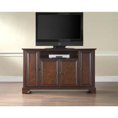 LaFayette 60 in. Mahogany Wood TV Stand Fits TVs Up to 60 in. with Storage Doors