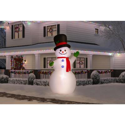 9 ft. Giant-Sized LED Inflatable Airblown-Snowman