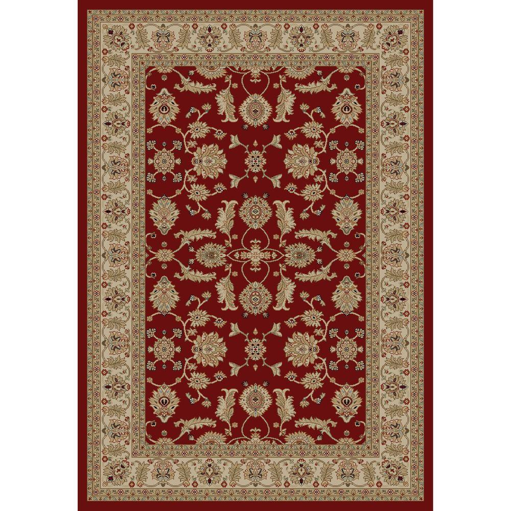 Concord Global Trading Jewel Antep Red 6 ft. 7 in. x 9 ft. 3 in. Area Rug