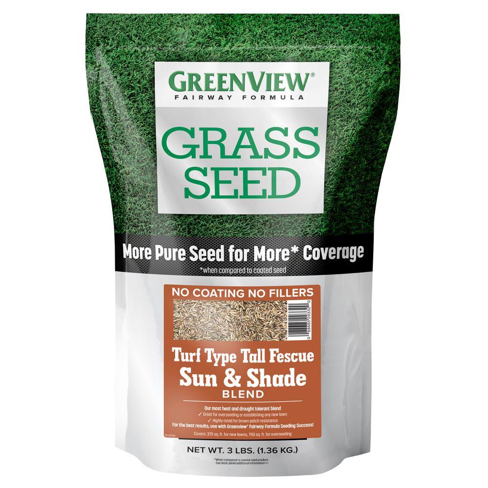 3 lbs. Fairway Formula Grass Seed Turf Type Tall Fescue Sun and Shade Blend
