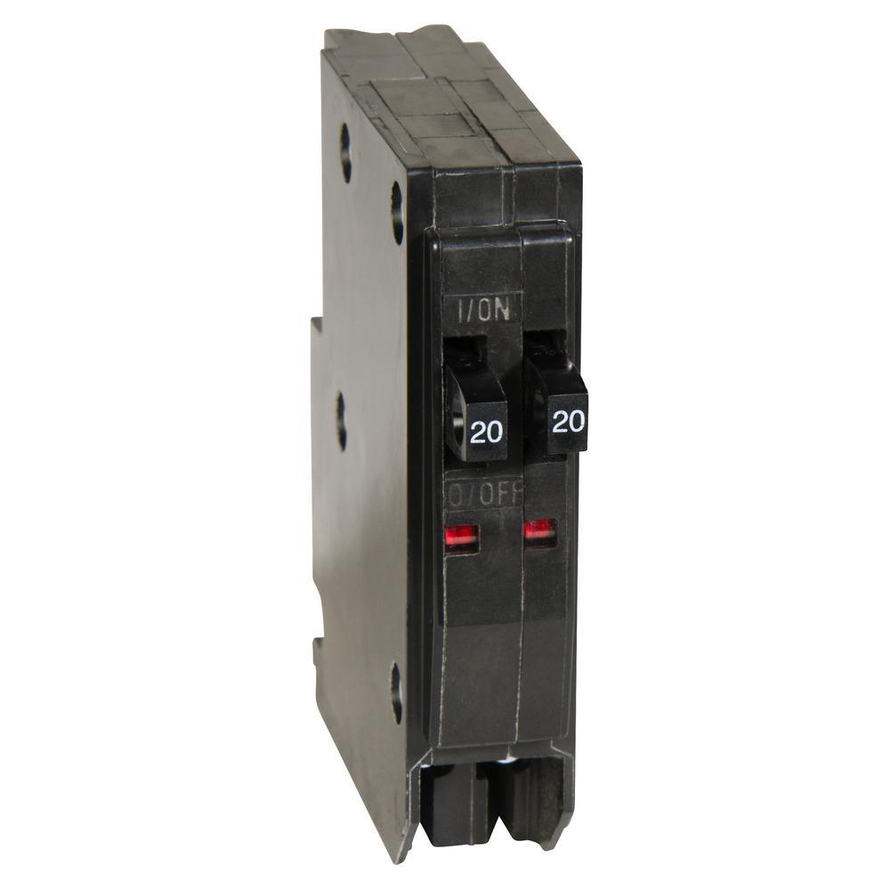 QO 2-20 Amp Single-Pole Class CTL Tandem Circuit Breaker