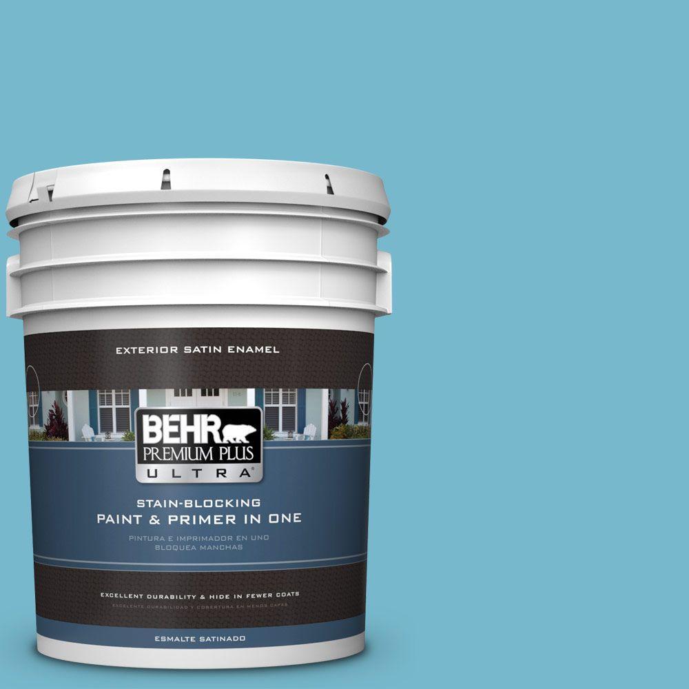 BEHR Premium Plus Ultra 5-gal. #M480-4 Below Zero Satin Enamel Exterior Paint
