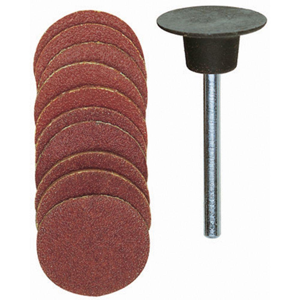 Proxxon 18 mm Sanding Pad with Sanding Disc (10-Piece)
