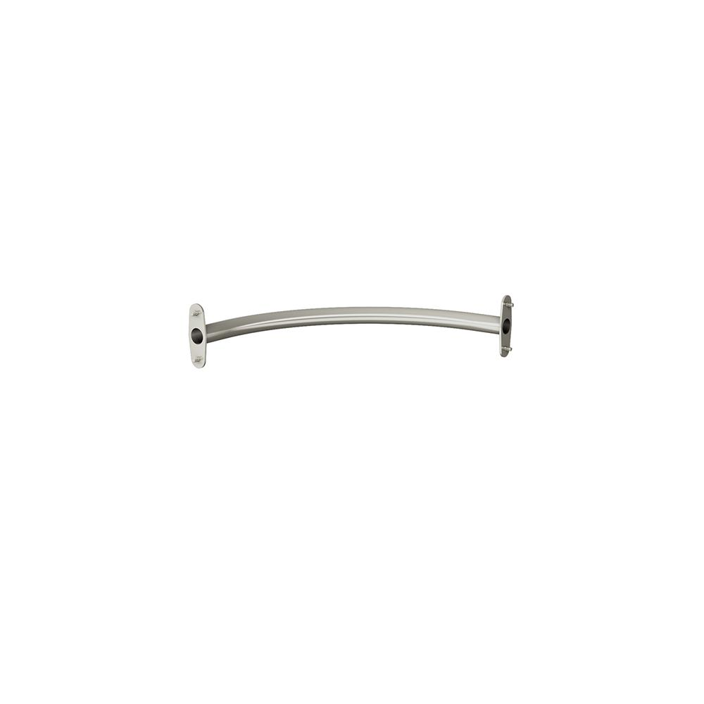 Chrome Corner Rounder Closet Hang Rod