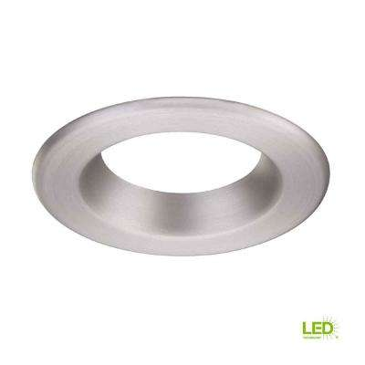 4 in. Decorative Brushed Nickel Trim Ring for LED Recessed Light with Trim Ring