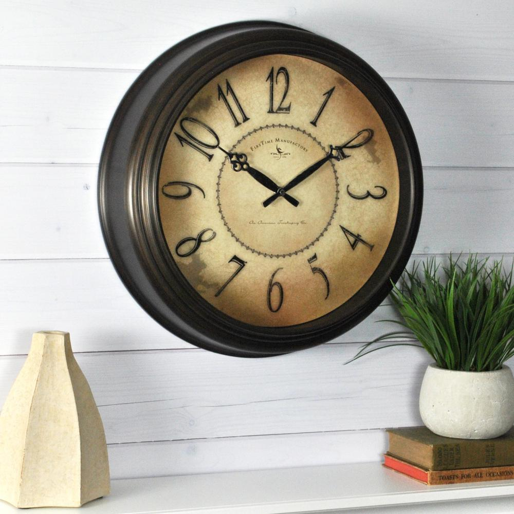 Firstime 18 in round taylor road wall clock 25629 the home depot round taylor road wall clock amipublicfo Gallery