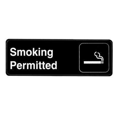 9 in. x 3 in. Smoking Permitted Sign