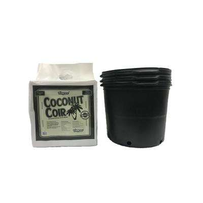 7 Gal. to 6.08 Gal. per 23.02 l Plastic Nursery Trade Pots with Coconut Coir Growing Media (3-Pack)