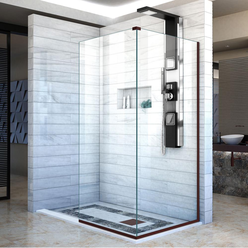 DreamLine Linea 30 in. x 72 in. Semi-Frameless Fixed Shower Door in ...