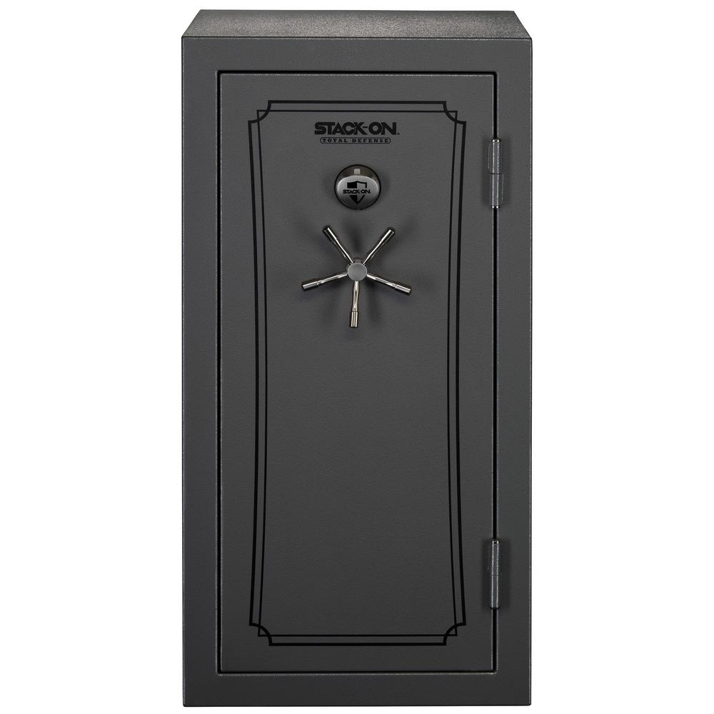 Merveilleux 36 40 Gun Total Defense Safe With Biometric Lock In Grey Pebble. Stack On  ...