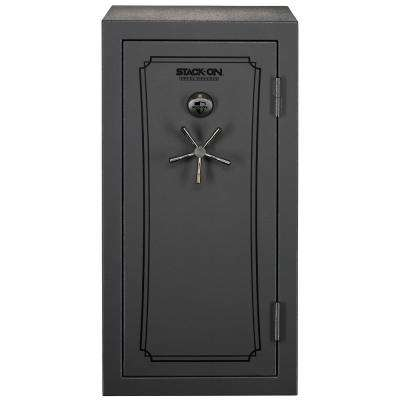 36-40 Gun Total Defense Safe with Biometric Lock in Grey Pebble