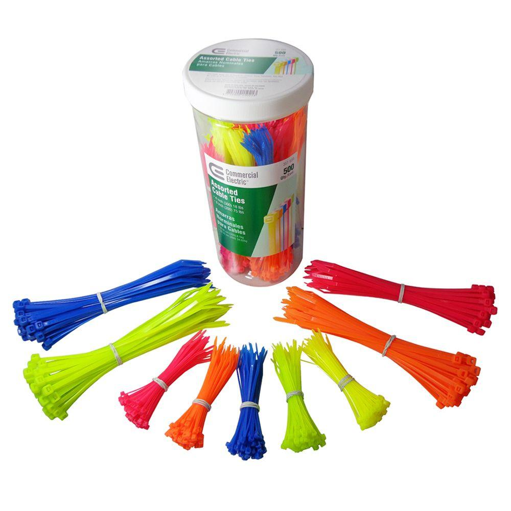 8in Asst Color Cable Tie