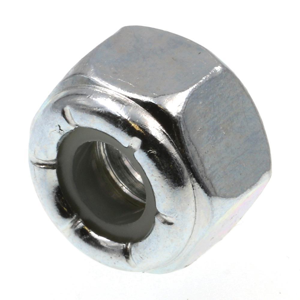 1/4 in.-20 Grade 2 Zinc Plated Steel Nylon Insert Lock Nuts (25-Pack)