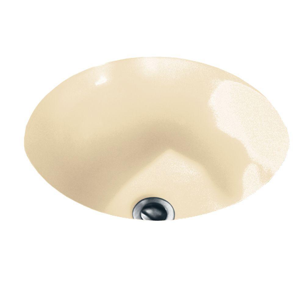 American Standard Orbit Undermounted Bathroom Sink In Bone
