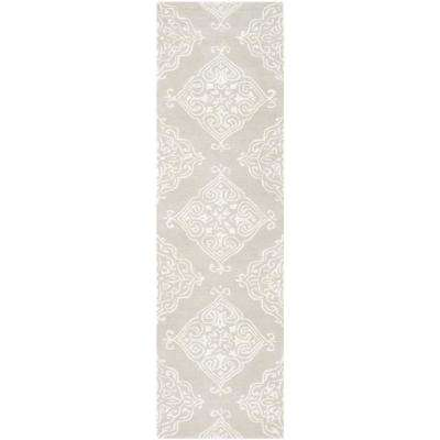 Glamour Silver/Ivory 2 ft. 3 in. x 8 ft. Runner Rug