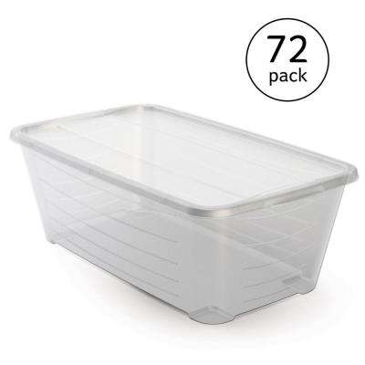 Life Story 5.5 Qt. Rectangular Clear Plastic Protective Storage Shoe Box (72-Pack)