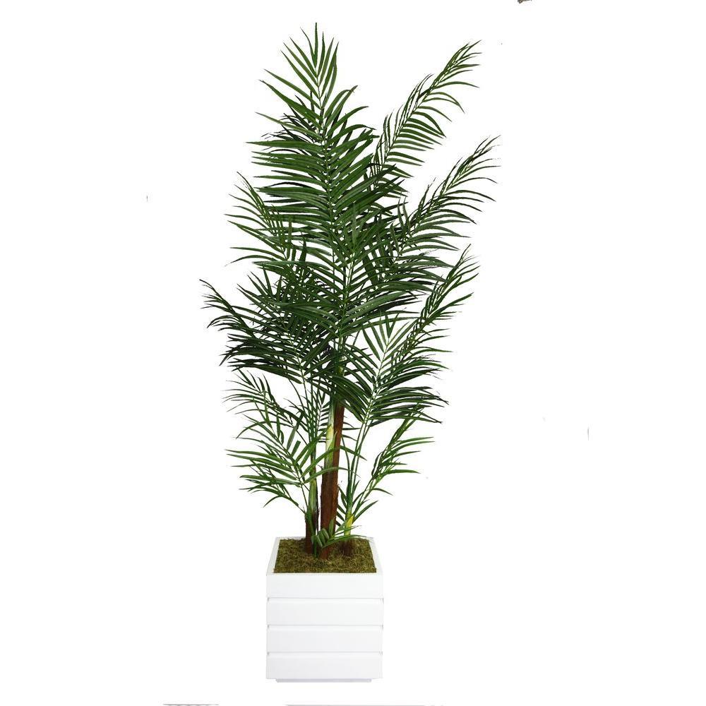 82 in. Tall Areca Palm Tree in 14 in. Fiberstone Planter