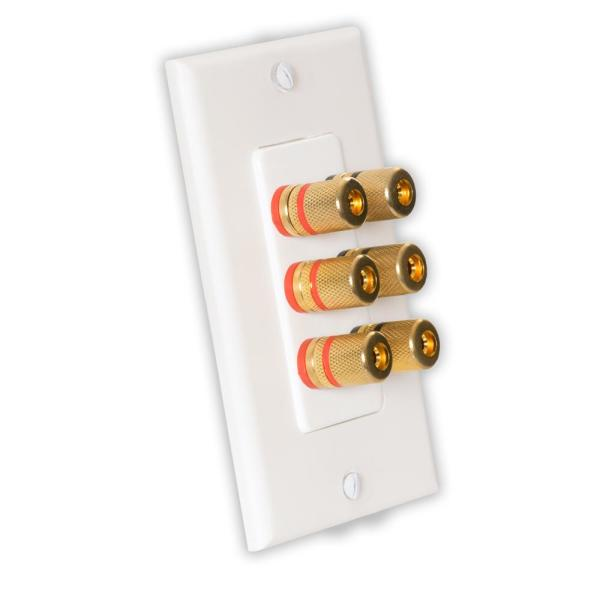 Theater Solutions by Goldwood Home Theater Speaker Wire Wall Plate