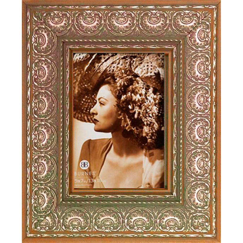 Home Decorators Collection Avila 1-Opening 5 in. x 7 in. Silver Picture Frame