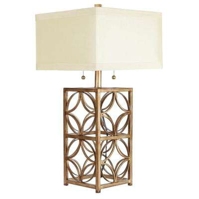 Ardent 25.5 in. Gold Table Lamp with Linen Shade