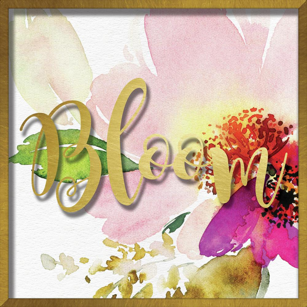 """Linden Ave 16 in. x 16 in. """"Bloom Watercolor Peony"""" Shadowbox Wall ..."""