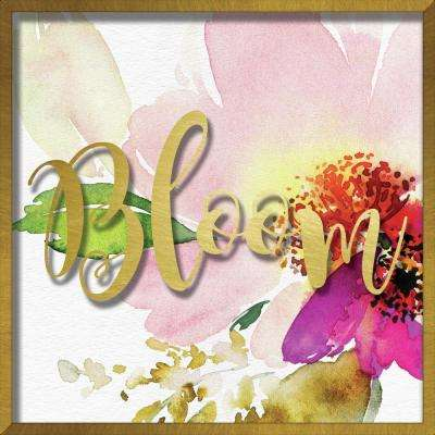 "16 in. x 16 in. ""Bloom Watercolor Peony"" Shadowbox Wall Art"