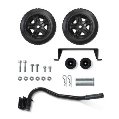 Portable Wheel Kit with Folding Handle and Never-Flat Tires