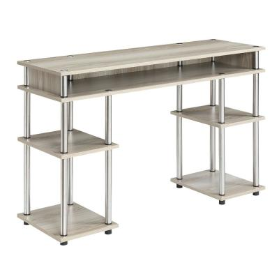 47.3 in. Rectangular Ice White Writing Desks with Storage