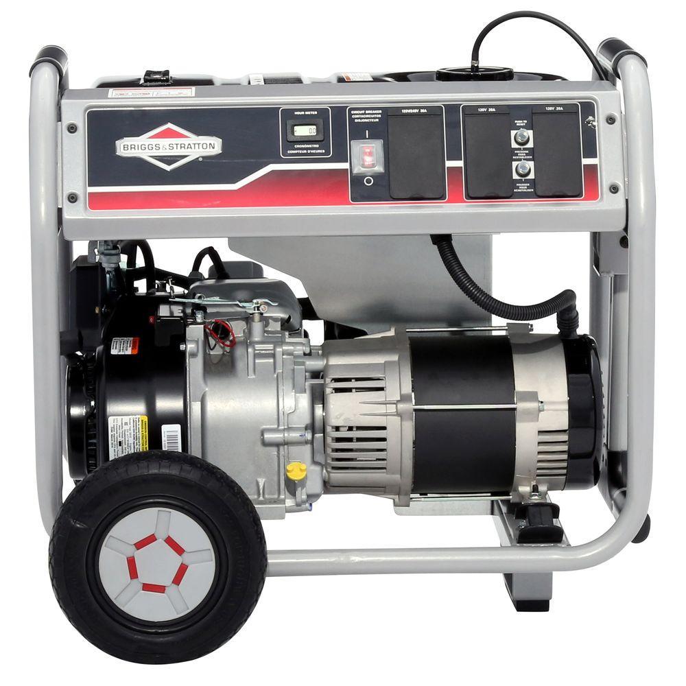 Briggs & Stratton 5,000-Watt Gasoline Powered Portable Generator with Hour Meter