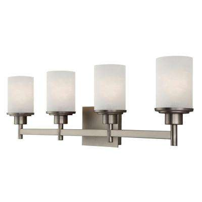 Lyndi 4-Light Brushed Nickel Bath Light