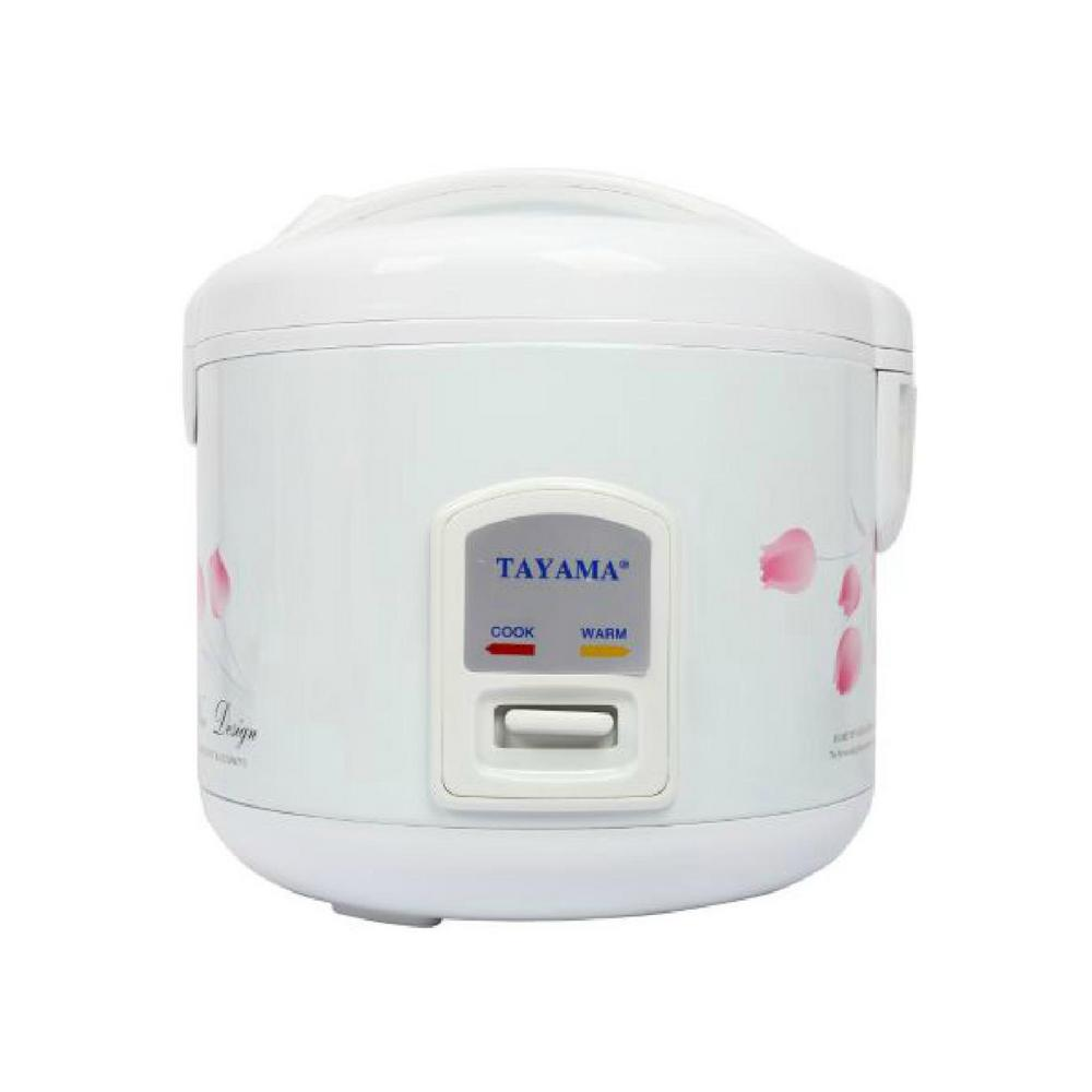 8-Cup White Rice Cooker with Air-Tight Lid and Non-Stick Inner Pot