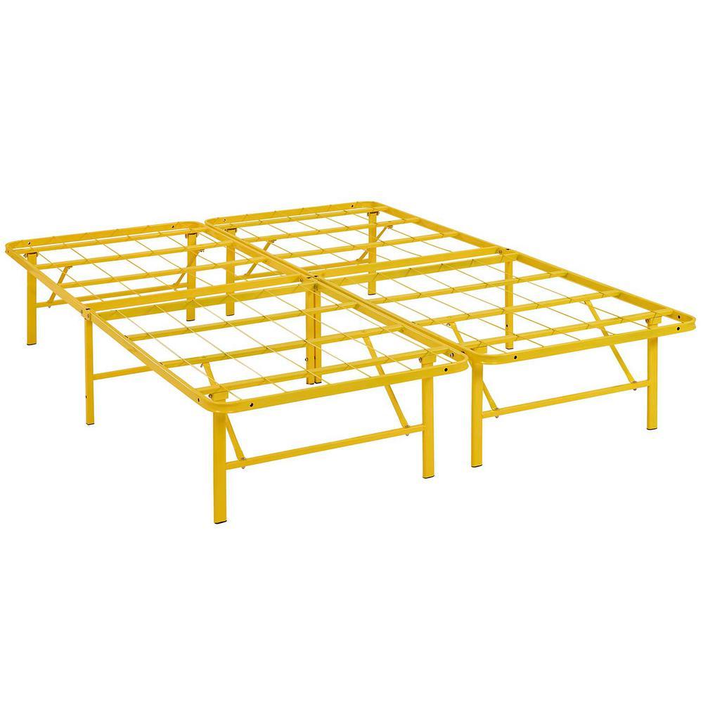 Horizon Yellow Full Stainless Steel Bed Frame