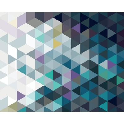 Abstract Triangles Wall Mural