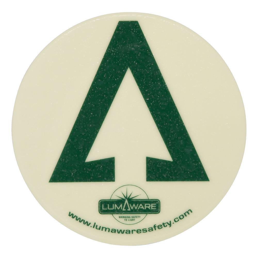 Illuminating Non Removable Circular Adhesive Floor Arrow
