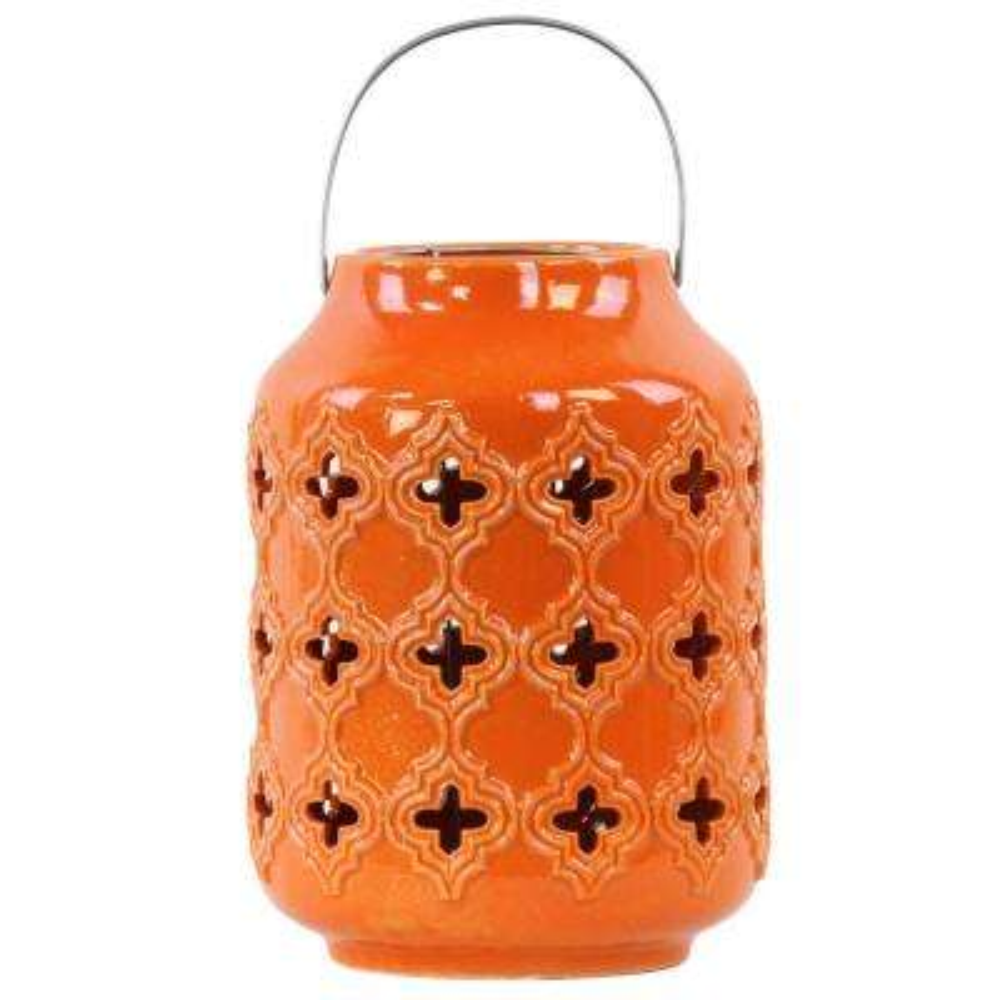 Orange Candle Ceramic Decorative Lantern