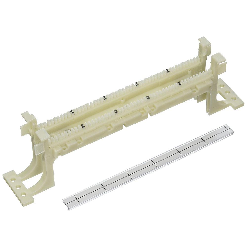 Cat 5e 110-Style Wiring Block, Wall Mount with Legs, Ivory (50-Pair)