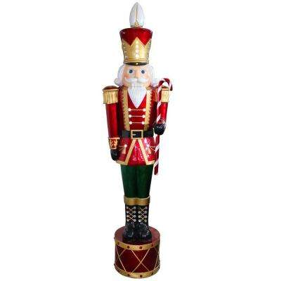65 in jeweled nutcracker with 20 white led metallic painting finish - Burlap Christmas Decorations Wholesale