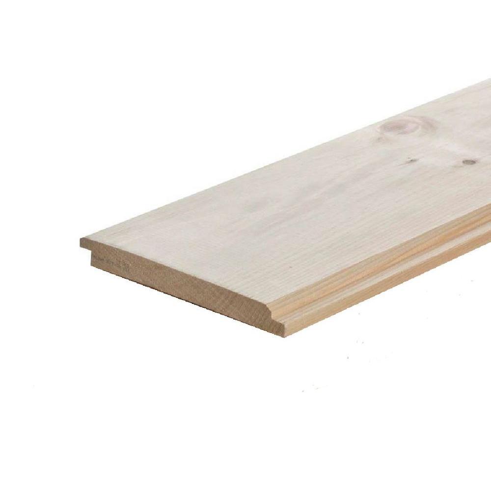 null Pattern Stock Shiplap Board (Common: 1 in. x 6 in. x 12 ft.; Actual: 0.625 in. x 5.37 in. x 144 in.)