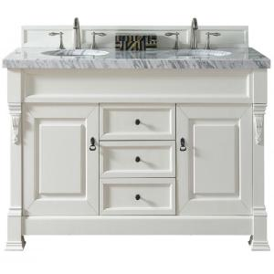 James Martin Signature Vanities Brookfield 60 inch W Double Vanity in Cottage White with Marble Vanity Top in Carrara... by James Martin Signature Vanities
