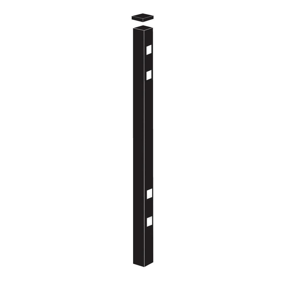 2 in. x 2 in. x 8-7/8 ft. Cascade Black Standard-Duty